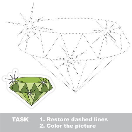 gemstone: Shine Gemstone Emerald, dot to dot educational game for kids.