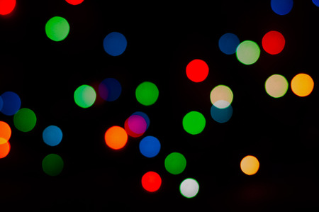beautiful background of different color lights on the black Stock Photo