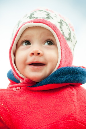 portrait of a child in a hat Stock Photo