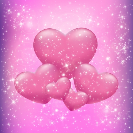 Hearts with patches of light Stock Vector - 21923265
