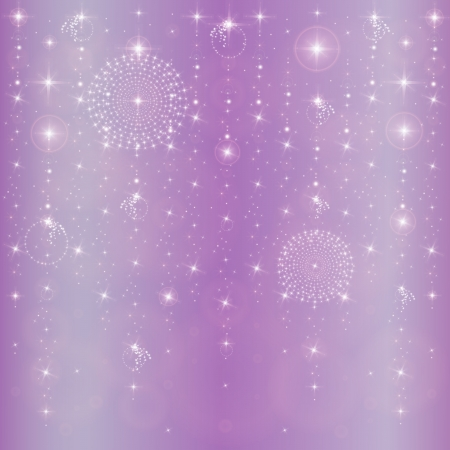 new year's: New Year s stars abstract background Illustration