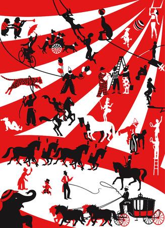 akrobatik: Plakat des eine Zirkus-Performance in einem retro-Stil Illustration