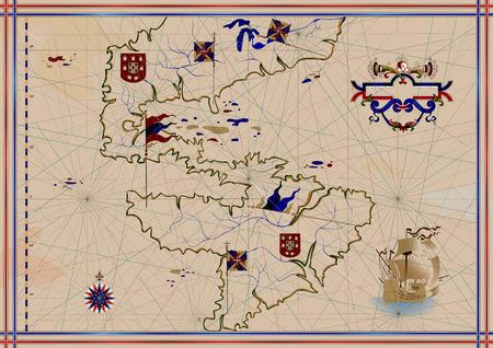 Antica mappa di America