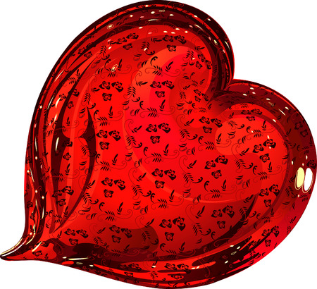 flowered: Glass flowered heart