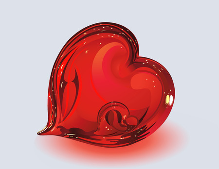 Two glass hearts Vector