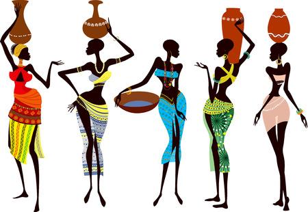 Hermosa mujer africana Ilustración de vector