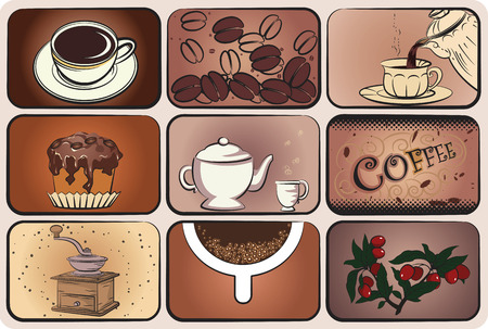 Coffee elements collection for design Stock Vector - 8642237