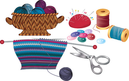 gomitoli di lana: Elementi per maglieria e cucito