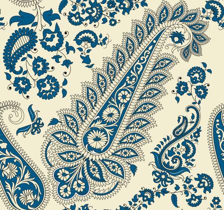 motif cachemire: Mod�le de paisley transparente Illustration