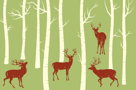 Deers - change the color is one click of mouse Vector