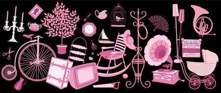 Old things offered for sale Stock Vector - 8642240