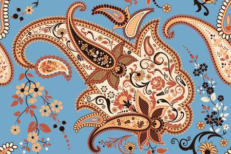 disegno cachemire: Paisley pattern senza saldatura Vettoriali
