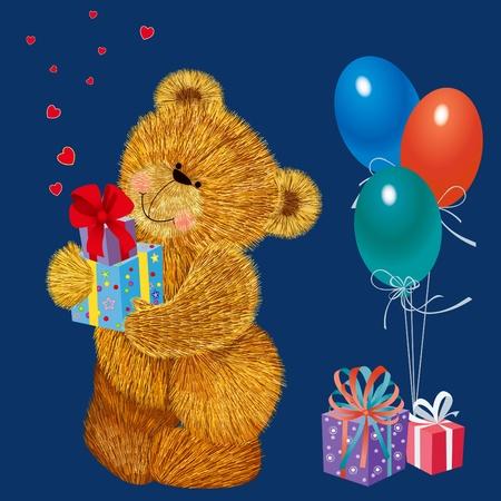 balloons teddy bear: Teddy bear