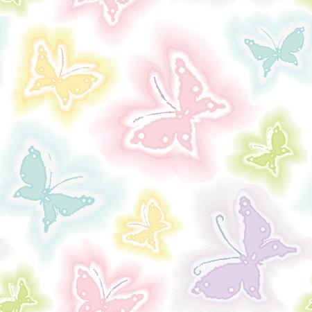Background with butterflies in watercolor technique Vector