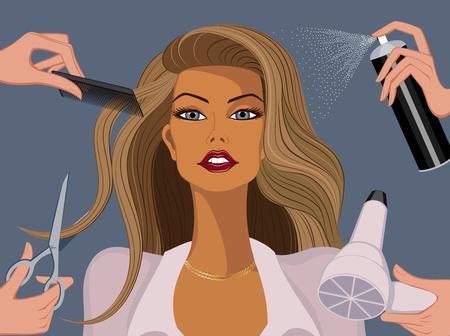 salon de belleza: Mujer en un sal�n de belleza