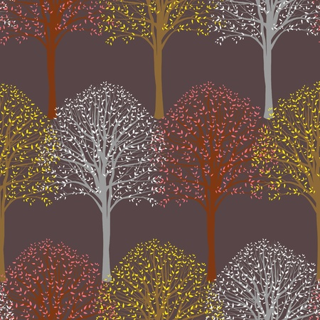 Seamless pattern with trees Illustration
