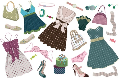 Clothing polka-dots Vector