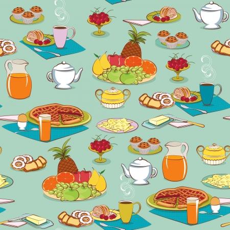 pastel de manzana: Antecedentes con los alimentos para el desayuno