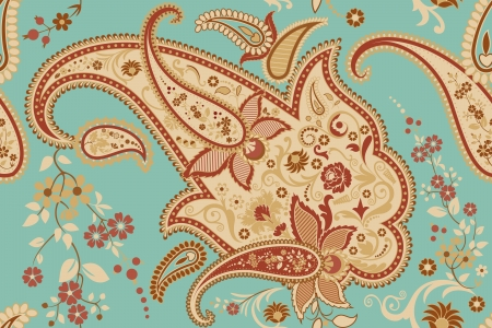 Seamless pattern with paisley motif Vector