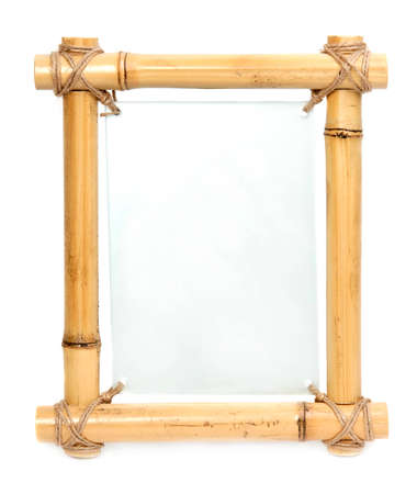 australian ethnicity: bamboo frame with blank glass board center