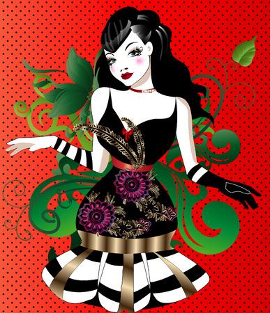beautiful girl Stock Vector - 7493332