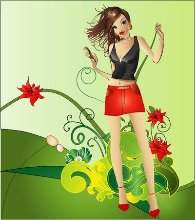 stylish girl:  girl