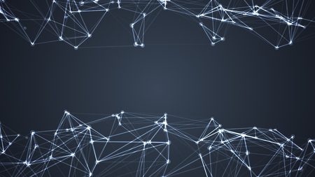 Abstract technology and science background futuristic network, plexus background. Stock Photo