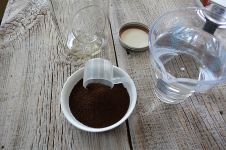 Ingredients for cold brewed coffee