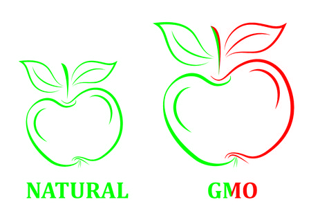 apple gmo: natural and red gmo apple