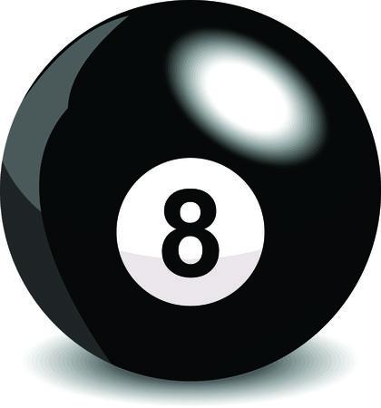 artistry: Billiard eight ball Illustration