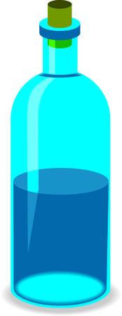 closed corks: Blue bottle