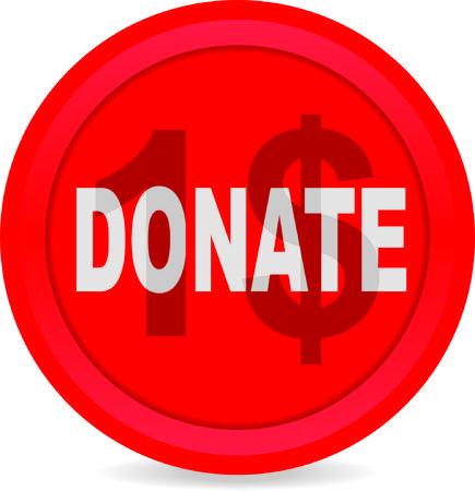 1: Donate 1 dollar Illustration
