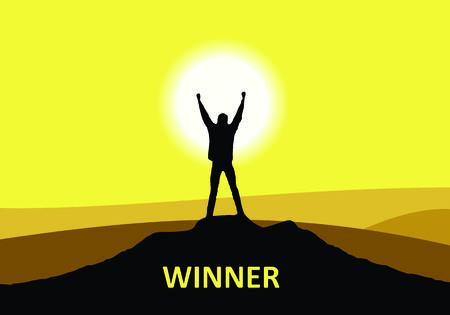 outstretching: Winner Stock Photo