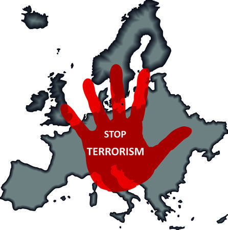 the end of the world: Stop terrorism Vectores