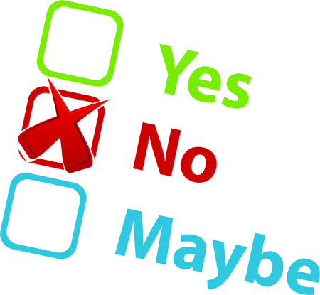 maybe: Yes No Maybe icon Illustration