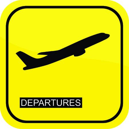 departures: Departures sign Illustration