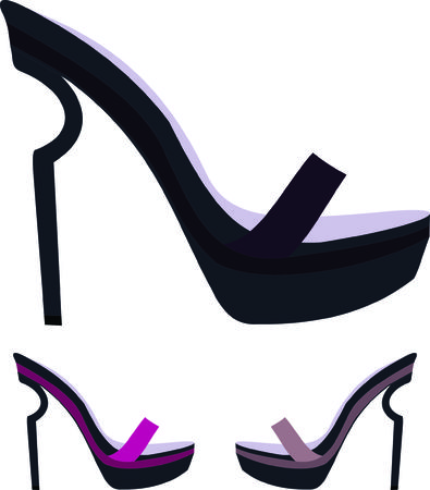 women's shoes: Womens shoes Illustration