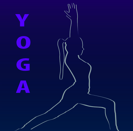 eastern spirituality: Yoga Illustration