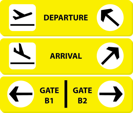 leaving: Airport sign Illustration