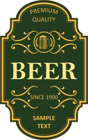 Beer label design Vector Illustration