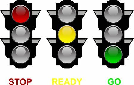 Semáforos Ilustración de vector