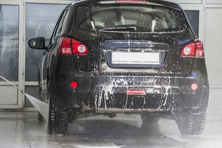 wash: car wash foam at the car wash