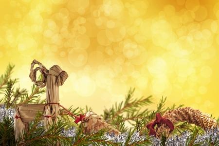 scandinavian christmas: Beautiful christmas background with decorations