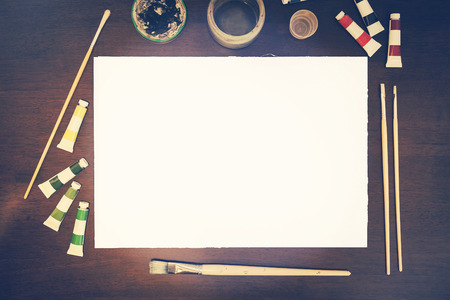 in insert: Art presentation mockup blank canvas - insert your own art