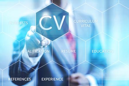 Curriculum vitae CV begrip wijzende vinger