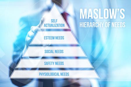 Hiérarchie sur la pyramide des besoins concept doigt pointé Banque d'images - 29303235