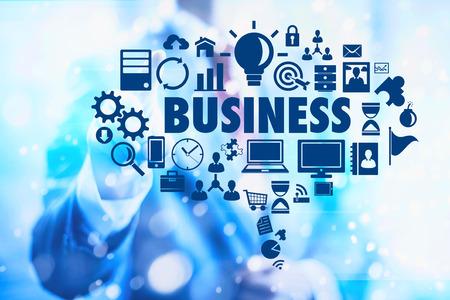 Business concept planning tekstballon Stockfoto