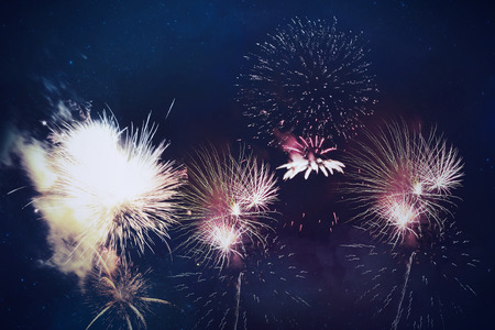 celebration background: Abstract fireworks celebration background