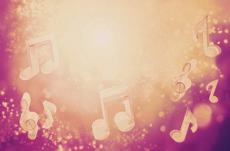abstract music: Colorful music background with copy-space