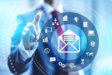newsletters: Email marketing business concept connectivity illustration Stock Photo